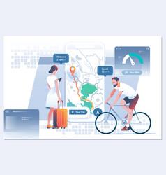 Mobile navigation gps search index on navigation vector
