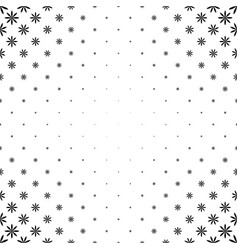 Monochrome stylized flower pattern - floral vector