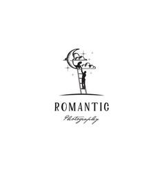 moon night romeo juliet romance film photo logo vector image