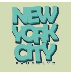 New York City Typography T-shirt Printing Design vector image