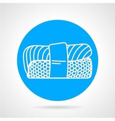 Nigiri sushi round icon vector image