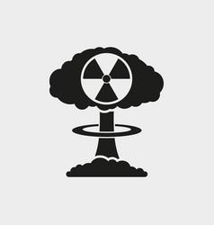 Nuclear explosion mushroom vector