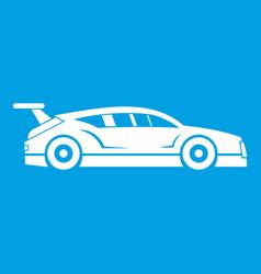 rally racing car icon white vector image
