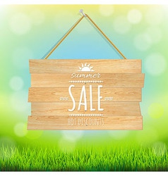 Sale Wooden Board vector image