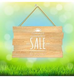 Sale Wooden Board vector