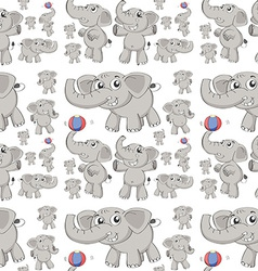 Seamless elephant vector image