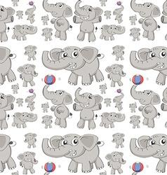 seamless elephant vector image