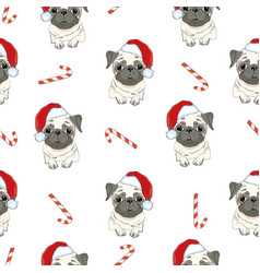 seamless pattern with image of a funny cartoon vector image