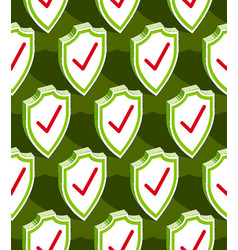 Shields seamless background protection antivirus vector
