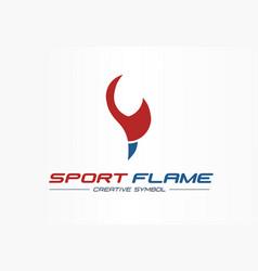 sport flame creative symbol concept energy award vector image