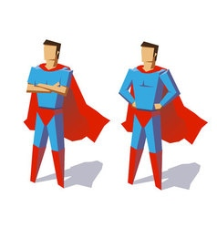 Super hero set vector image