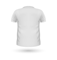 T-shirt Teplate Back View vector image