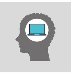 tech computer icon vector image