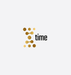 time icon hourglass shaped dots simple flat vector image