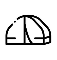 tourist trip camp icon outline vector image