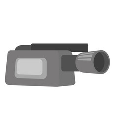 video camera with microphone vector image