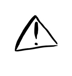 warning exclamation mark icon symbol vector image