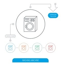 Washing machine icon Washer sign vector