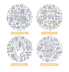 website design doodle vector image