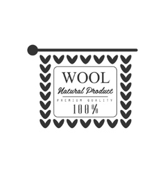 Wool Black And White Product Logo Design vector image