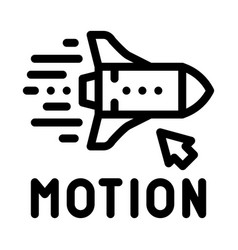 Work with rocket objects in action icon vector