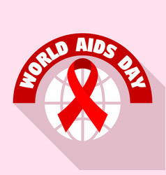 World aids day tolerance logo set flat style vector