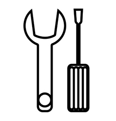 Wrench and screwdriver construction tools vector image