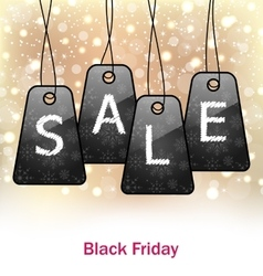 Abstract Set Labels for Black Friday Sales vector image