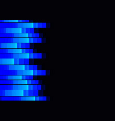 blue fluorescent pixel speed abstract vector image vector image