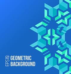blue green asymmetric abstract geometric vector image