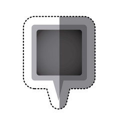 grayscale sticker of square speech with tail in vector image vector image