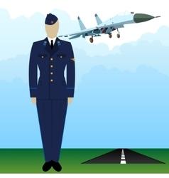 Military uniform force pilot-4 vector