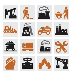 power generation icons vector image vector image