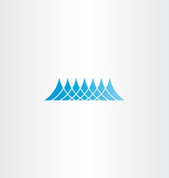 water wave sea blue icon design vector image vector image