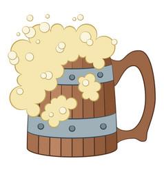 beer mug isolated vector image vector image