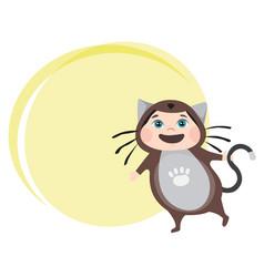 cute girl dressed in carnival costume cat vector image