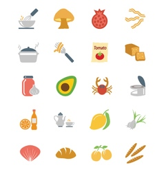 Food Colored Icons 10 vector image