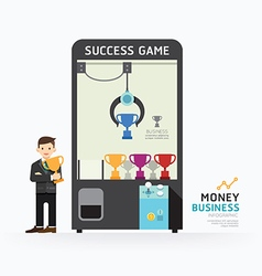Infographic business claw game template design vector image vector image