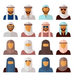 Middle Eastern People Avatars vector image vector image