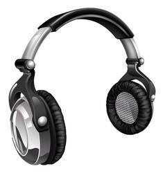 big cool music headphones vector image vector image