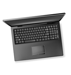 black design notebook laptop vector image