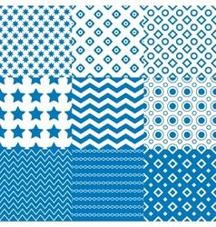 Circle Square Star Patterns vector image