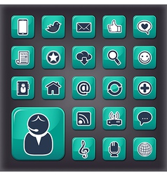 Internet communication universal buttons vector image