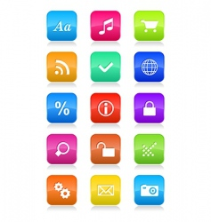 mobile phone interface icons vector image vector image