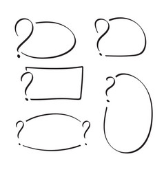 set of question mark vector image