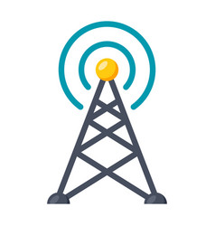 transmitter tower icon vector image