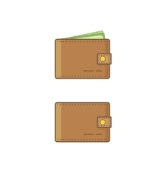 Wallet wit money icon isolated on white vector image