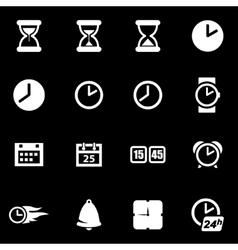 white time icon set vector image vector image