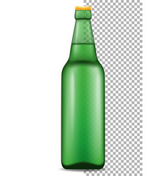 beer in bottle transparent stock vector image vector image