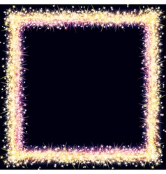 Bright Frame with Sparkles and Flares vector image
